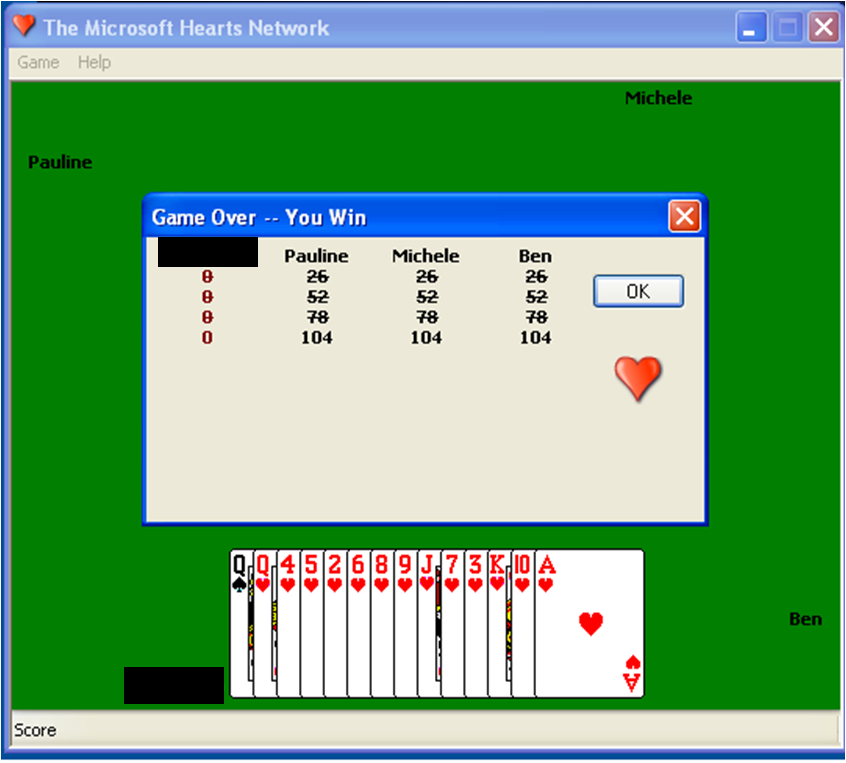 microsoft hearts